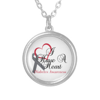 Have A Heart For Diabetes Awareness Silver Plated Necklace