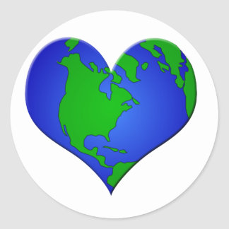 Have a  HEART for Our EARTH Classic Round Sticker
