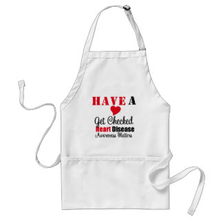Have a Heart Get Checked Awareness Matters Adult Apron