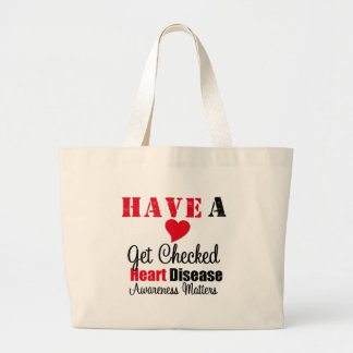 Have a Heart Get Checked Awareness Matters Jumbo Tote Bag