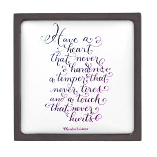 Have a heart inspirational quote typography jewelry box