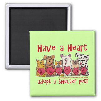 Have a Heart 2 Inch Square Magnet