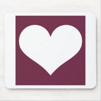 Have A Heart (Maroon/White) Mouse Pad
