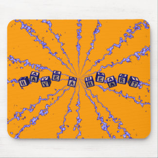 Have a heart toy blocks in blue mouse pad