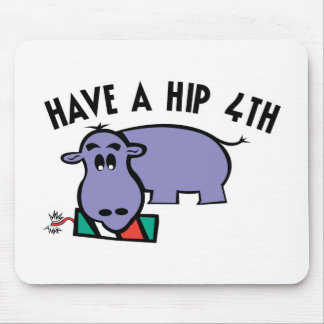 Have a Hip 4th Hippo Mouse Mats