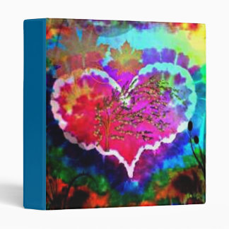 have a hippy Heart Tie dye heart notebook binder