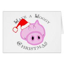 Have a Hoggy Christmas! Card