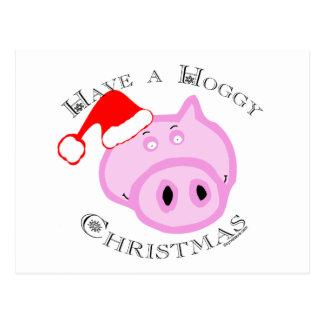 Have a Hoggy Christmas! Postcard