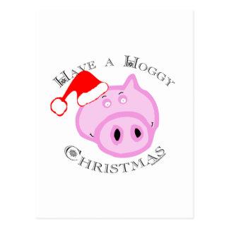 Have a Hoggy Christmas! Post Card