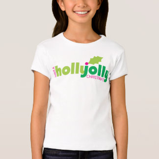 Have a Holly Jolly Christmas Girl's Fitted Tee