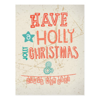 Have a Holly Jolly Christmas greeting Post Cards