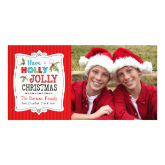 Have a Holly Jolly Christmas Holiday Photo Card