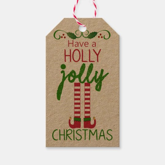 Holly Jolly Christmas.Have A Holly Jolly Christmas Homemade Gift Tags