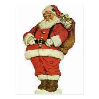 Have a Holly Jolly Christmas Santa Claus Postcard