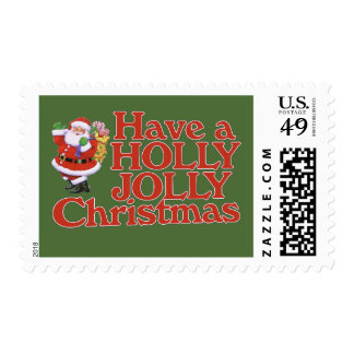 Have a holly jolly Christmas Stamp