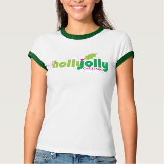 Have a Holly Jolly Christmas Women's Ringer Tee