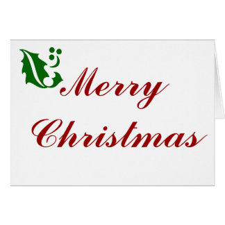 Have A Holly Merry Christmas Card