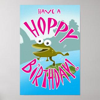 Have a Hoppy Birthday Poster