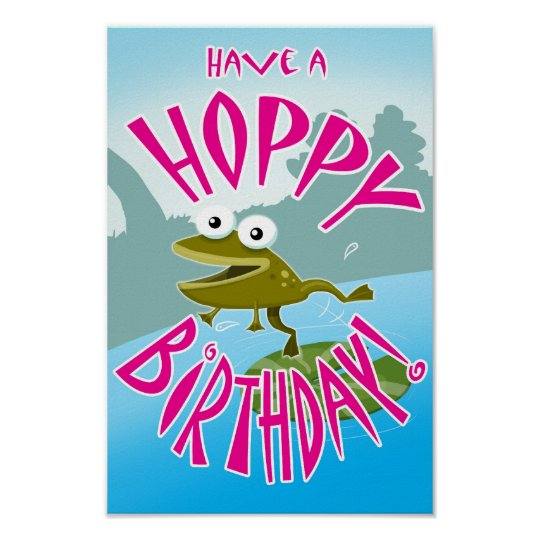 Have a Hoppy Birthday Poster