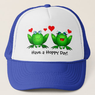 Have a Hoppy Day Frogs Love Hat