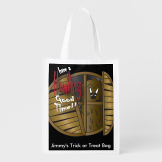Have a Howling Good Time| Halloween Trick or Treat Grocery Bag