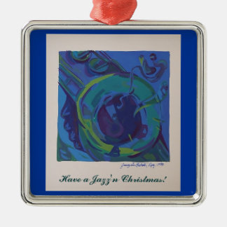 Have a Jazz'n Christmas Metal Ornament