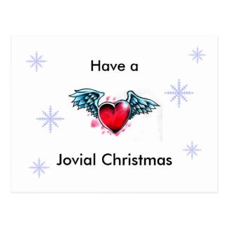 """Have A Jovial Christmas"" Post Card"