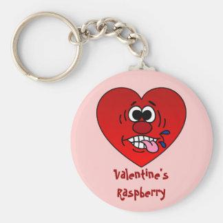Have a Juicy Raspberry for Valentine's Basic Round Button Keychain