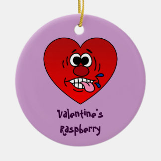 Have a Juicy Raspberry for Valentine's Ceramic Ornament