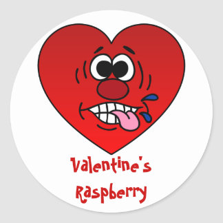 Have a Juicy Raspberry for Valentine's Classic Round Sticker