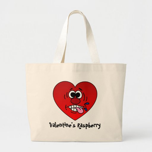Have a Juicy Raspberry for Valentine's Large Tote Bag