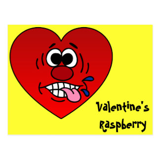 Have a Juicy Raspberry for Valentine's Postcard