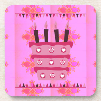 Have a Lovely Happy Birthday Beverage Coaster