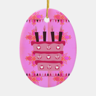 Have a Lovely Happy Birthday Ceramic Ornament