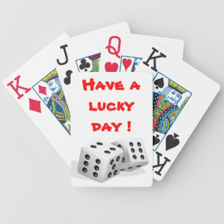 HAVE A LUCKY DAY BICYCLE PLAYING CARDS