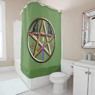 Have a Magickal Day! Shower Curtain