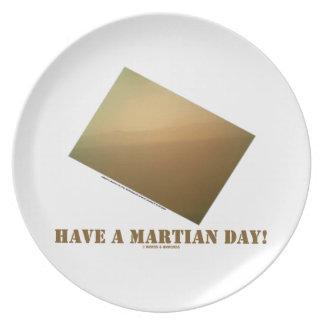 Have A Martian Day! (Martian Landscape Curiosity) Dinner Plate