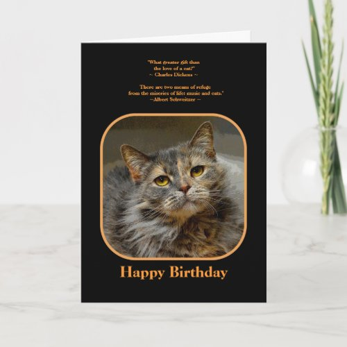 Have a meow-velous Birthday Tortoiseshell Cat Card
