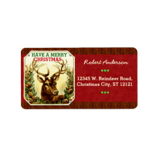 Have a Merry Christmas Reindeer Personalized Personalized Address Labels