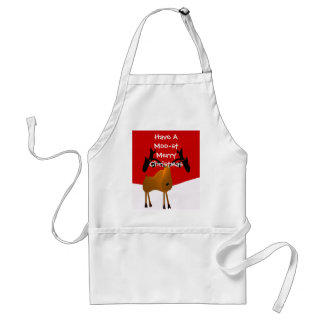 Have a MOO-ST Merry Christmas! Apron