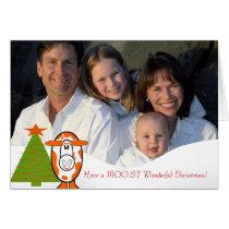 Have a Moo-st Wonderful Christmas! -Cute Cow Card