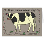"""Have a Moo-velous Day!"" Cow Greeting Card"
