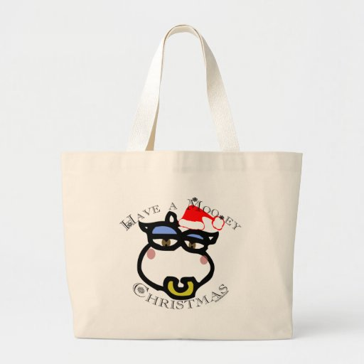 Have a Mooey Christmas! Large Tote Bag