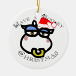Have a Mooey Christmas Double-Sided Ceramic Round Christmas Ornament