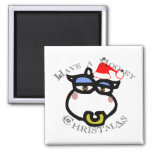 Have a Mooey Christmas! Refrigerator Magnet