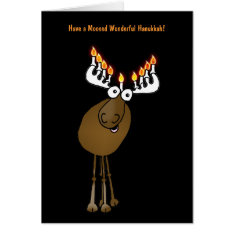 Have A Moosed Wonderful Hanukkah! Card at Zazzle