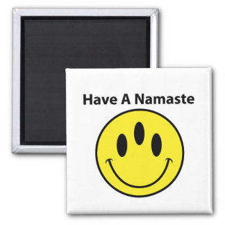 Have A Namaste, Third Eye, Happy Face, Smiley,Yoga Magnet