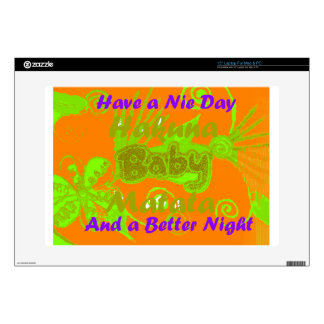 """Have a Nicce Day & a Better Night.png Decal For 15"""" Laptop"""