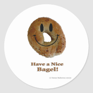 Have a Nice Bagel! Classic Round Sticker