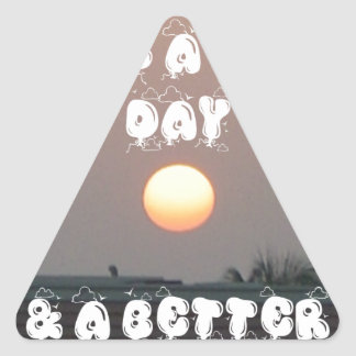 Have a Nice Day & a better Night Triangle Sticker